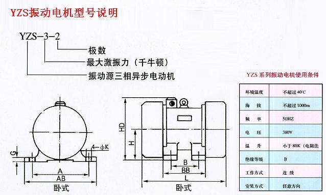 振动电机型号说明