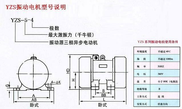 4极_YZS振动电机